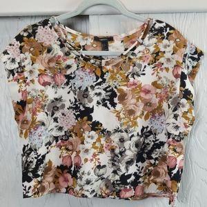 🖤 3/$15 🖤 FOREVER 21 floral crop
